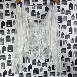 NWT Wedding Dress Lace Overtop with Sleeves